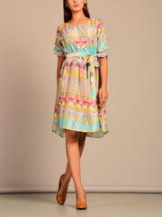 Multi Color Block Printed Tunic