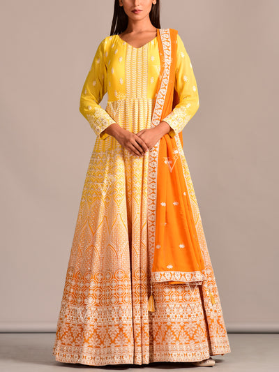 Yellow Georgette Suit Set