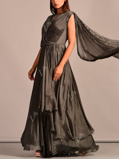 Gown, Evening Gown, Gowns, Contemporary, Modern, Party Wear, Designer Wear, Silk