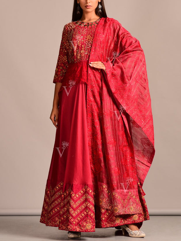 Embroidered, Georgette, Party Wear, Designer Wear, Traditional Wear, Traditional Outfit, Anarkali, Anarkalis, Anarkali Set, Dress, Gown, Gowns, Floor Length, Silk
