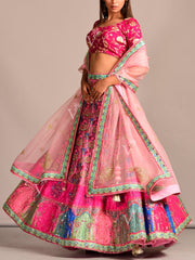 Lehenga, Lehenga Set, Printed, Silk, Traditional Wear, Traditional Outfit, Party Wear, Designer Wear