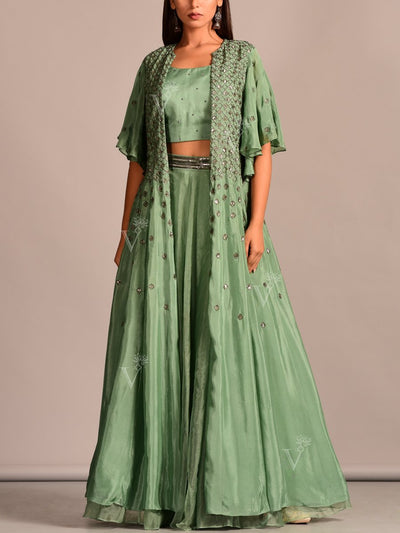 Lehenga, Lehenga Set, Skirt, Peplum, Party Wear, Designer Wear, Traditional Wear, Traditional Outfit, Silk, Embroidered, Contemporary, Jacket, Fusion Wear, Indo Western,