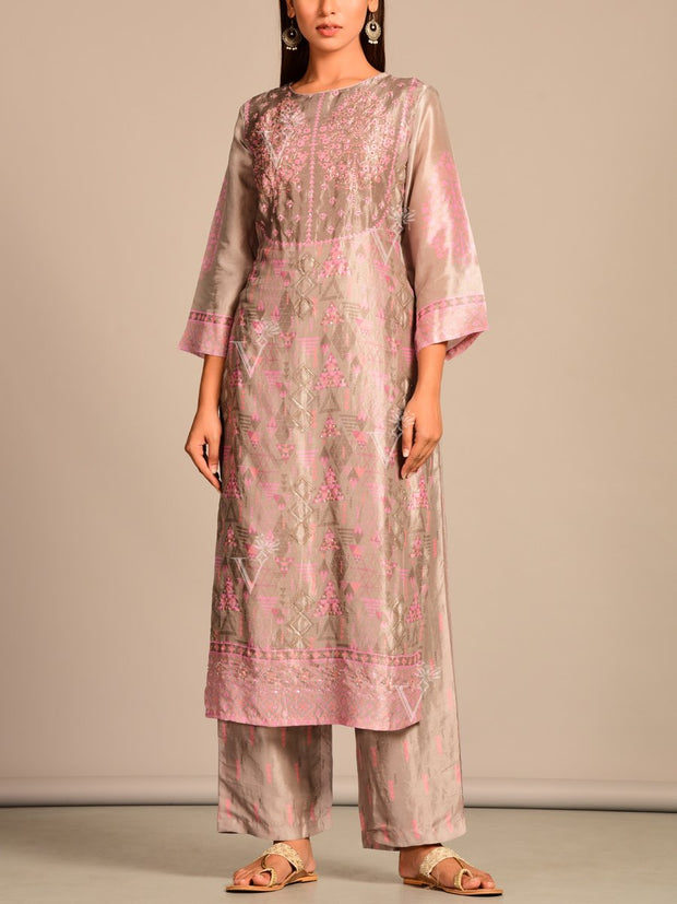Kurta, Kurti, Kurta set, Silk, Designer wear, Party wear, Festive wear, Traditional wear, Traditional outift, Handwork, Printed