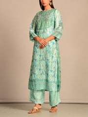 Aqua Printed Kurta Set
