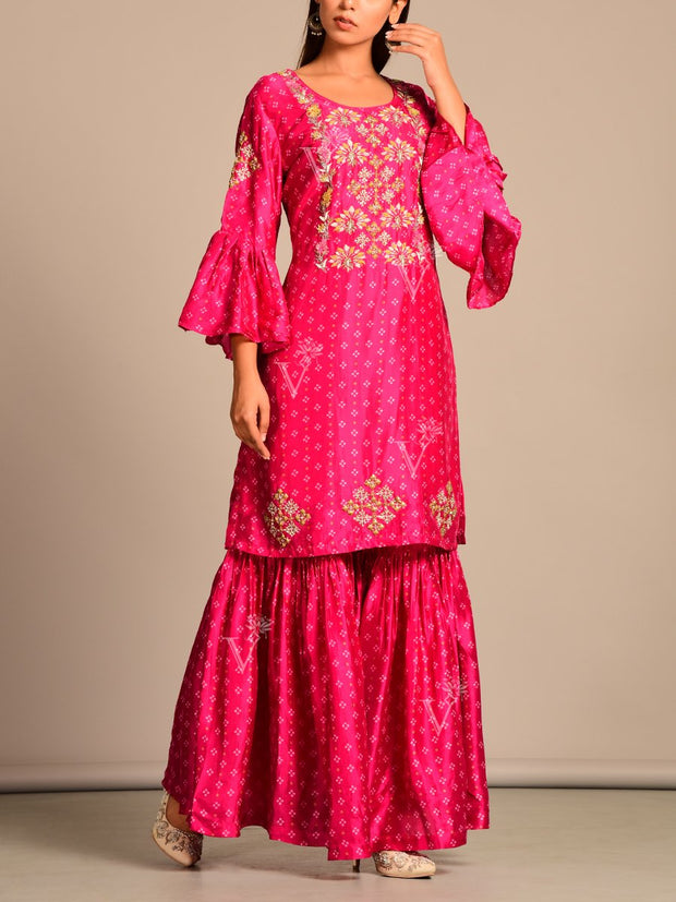 Sharara, Suit set, Fusion wear, Festive wear, Traditional wear, Traditional outfit, Party wear