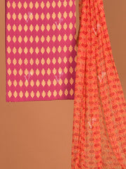 Purple chanderi Dress Material