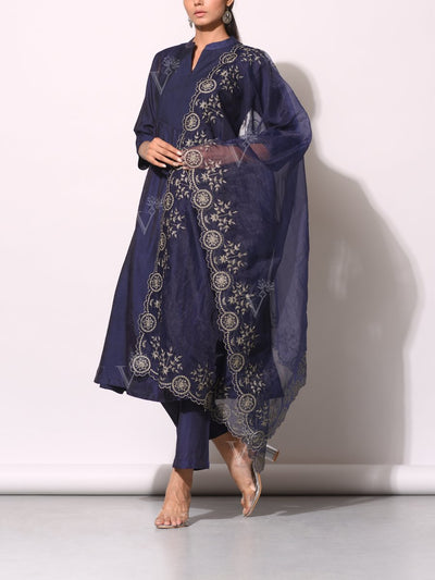 Suit, Suit set, Printed, Chanderi, Bandhani, Bandhej, Highlighted, Traditional, Traditional outfit, Traditional wear, Festive wear