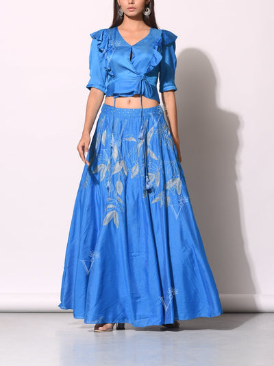 Lehenga, Lehengas, Festive wear, Traditional, Traditional wear, Traditional outfit, Embroidery, Embroidered, Crop top, Crop set