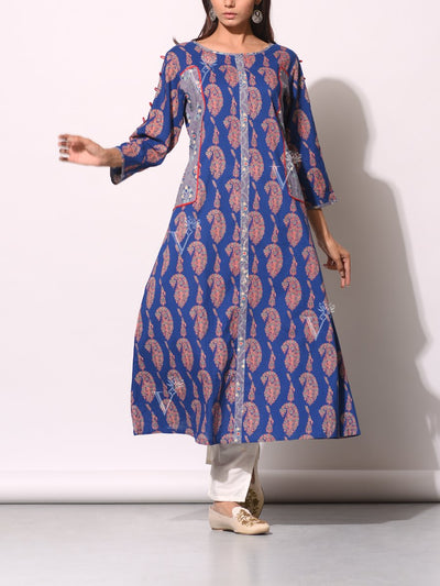 Kurti, Kurta, Printed, Traditional, Traditional wear, Traditional outfit, Cotton, Pure cotton, 100% cotton, Regular wear, Casual wear, Ethnic wear
