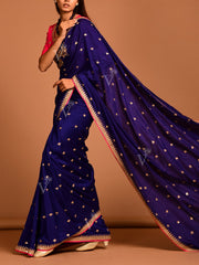 Purple Silk Saree