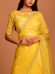 Yellow Organza Saree