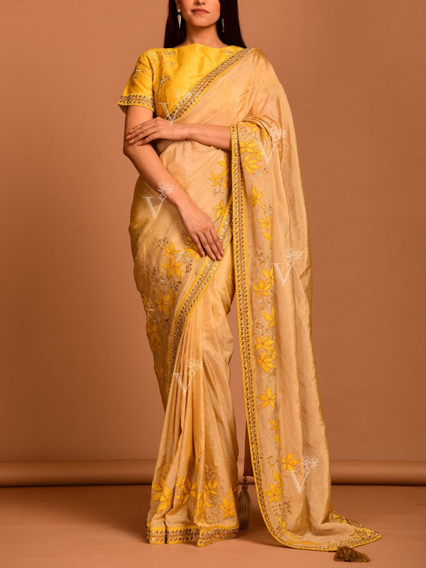 Golden Tissue Saree