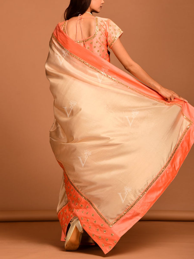Golden Silk Foil Saree