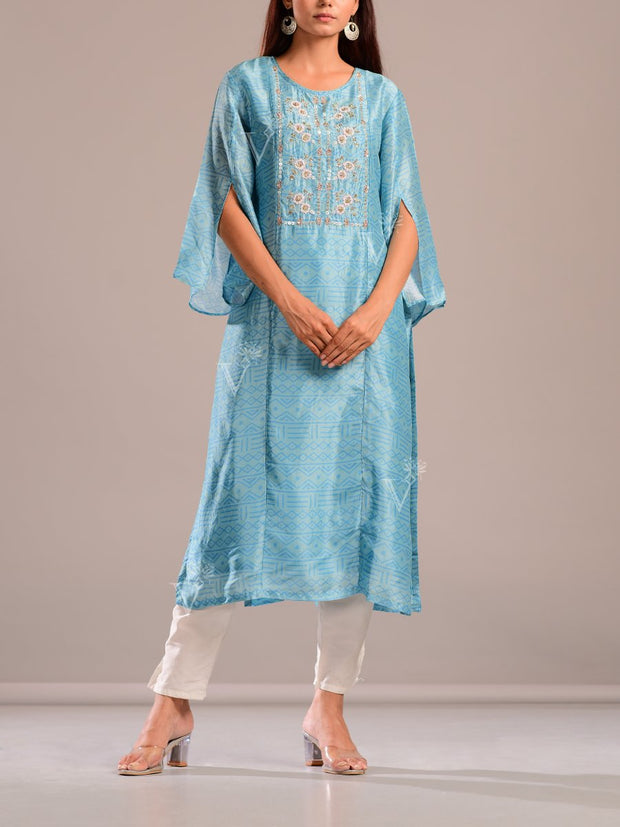 Kurti, Kurta, Suit, Tunic, Silk, Regular wear, Embroidered, Light weight, Casual wear