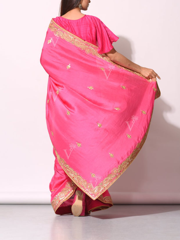 Pink Dola Silk Saree