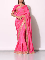 traditional saree, saree, sarees, gotta patti, bright color, jaipuri, jaipur, bandhani, leheriya, silk, dola silk