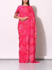 Rani Pure Georgette Saree
