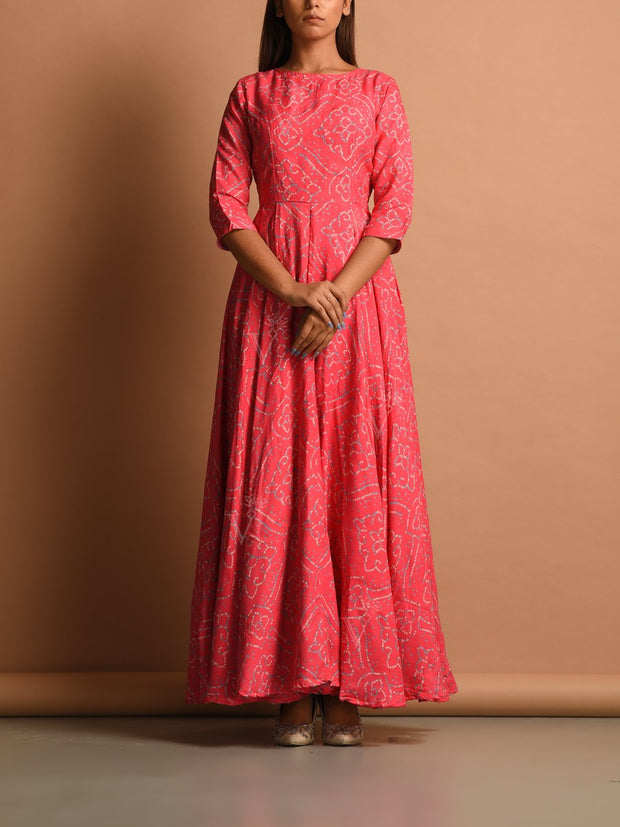 Anarkali, Anarkalis, Gown, Gowns, Traditional, Traditional wear, Traditional outfit, Printed, Bandhani, Bandhej, Floor length, Maxi dress, Flowy