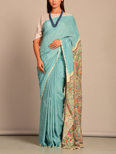 Saree, Traditional, Traditional outfit, Traditional wear, Printed, Madhubani, Kalamkari, Regular wear, Casual wear, Sarees