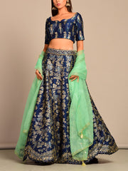 Lehenga, Lehenga set, Lehengas, Printed, Pearl brush, Traditional, Traditional wear, Traditional outfit, Light weight