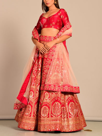 Lehenga, Lehengas, Lehenga set, Silk, Printed, Handwork, Light weight, Party wear, Wedding wear, Traditional wear, Traditional lehenga