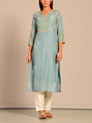 Kurti, Kurta, Kurtis, Leheriya, Traditional, Traditional wear, Traditional outfit, Silk, Regular wear, Festive wear, Casual wear, Printed