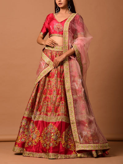 Lehenga Set, Lehengas, Lehenga, Traditional Wear, Prints, Printed Lehenga, Digital Print , Light Lehengas, Light Wear, Pearl Brush
