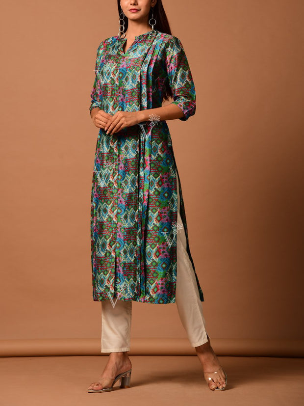 Kurta, Kurta set, Festive wear, Suit, Suit set, Bandhani, Bandhej, Poshak, Poshaak, Silk, Cotton silk, Traditional wear, Palazzo