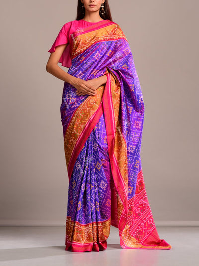 Saree, Sarees, Patola, Gujarati, Regular wear, Traditional outift, Traditional wear, Silk, Banarasi Silk, Printed