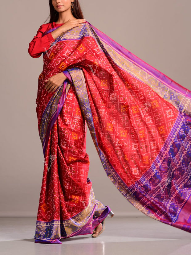 Red Silk Patola Saree