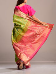 Light Green Silk Handloom Saree