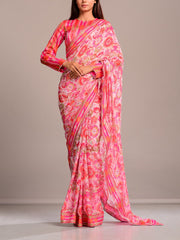 Saree, Sarees, Regular wear, Traditional outift, Traditional wear, Printed, Crepe, Wrinkle crepe, Highlighted
