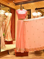 Pink Silk Saree-In Store