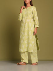 Light Green Printed Kurta Set