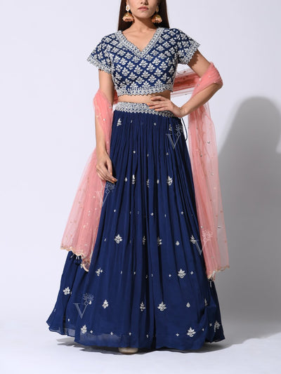 Lehenga, Lehengas, Party wear, Designer wear, Heavy, Traditional, Traditional wear, Traditional outfit, Crepe, Net