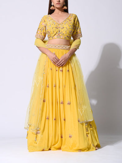 Lehenga, Lehengas, Party wear, Designer wear, Heavy, Traditional, Traditional wear, Traditional outfit, Raw silk, Silk, Embroidered, Embellished