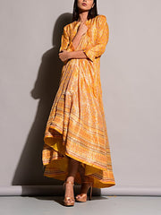Yellow Vasansi Silk Anarkali Gown