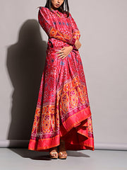Anarkali, Anarkalis, DD10, Floor Length, Gown, Gowns, Long Dress, MTO, Printed, Silk, VK, bestseller