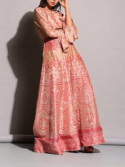 Anarkali, Anarkalis, Floor Length, Gown, Gowns, Long Dress, Printed, Silk,SALE