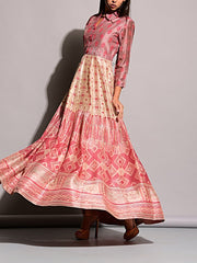Light Peach Vasansi Silk Anarkali Gown