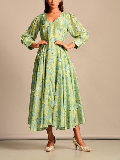 Dress, Dresses, Summer, Western, Gown, Gowns, Printed, Modern, Casual wear, Vintage, Silk