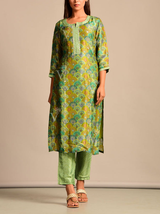 Suit, Suit set, Suits, Printed, Silk, Traditional wear, Traditional outfit, Traditional, Casual wear, Regular wear