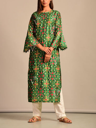 Kurti, Kurtis, Kurta, Printed, Patola, Silk, Traditional wear, Traditional outfit, Traditional, Casual wear, Regular wear