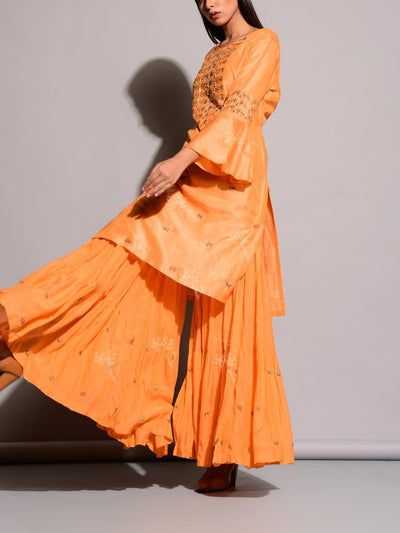 Light Orange Sharara Set