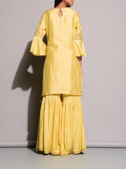 Light Yellow Sharara Set