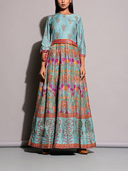 Anarkali, Anarkalis, Gown, Gowns, Printed, Floor length, Party wear, Light weight