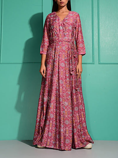 Anarkali, Gown, Gowns, Printed, Western, Indo western, Trendy, Long gown
