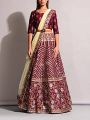 Lehenga, Printed, Lehenga set, Choli, Navratri lehenga, Zari work, Sequence work, Party wear, Designer wear