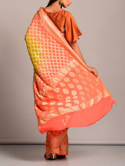 Orange And Yellow Shaded Ghat Chola Saree