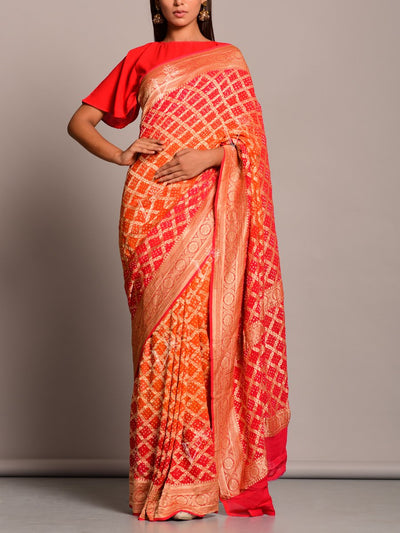 Saree, Sarees, Ghat chola, Georgette, Pure, Traditional, Traditional wear, Traditional outfit, Realzari, Jaipuri, Rajasthani, Weddding wear